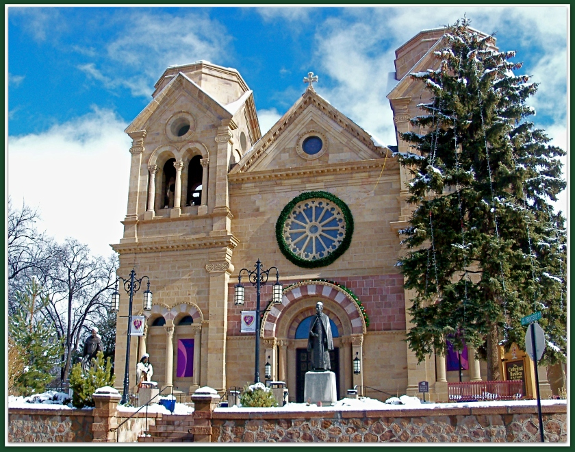 St.Francis Cathedral at Christmas